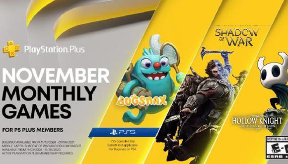 PlayStation Plus: juegos gratuitos de PS4 en noviembre 2020. (Foto: Sony)