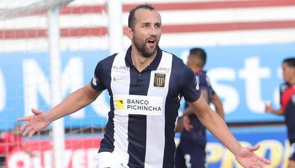 Hernán Barcos y su mensaje tras la clasificación a la fase de grupos de la Copa Libertadores. (Foto: Alianza Lima)