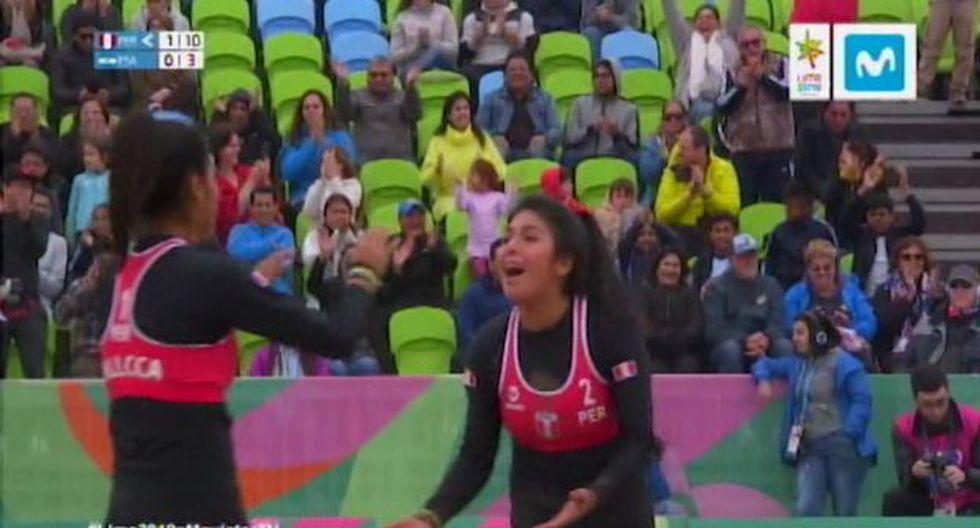 La dupla peruana de vóley playa dio cátedra en los Juegos Panamericanos Lima 2019. (Movistar)