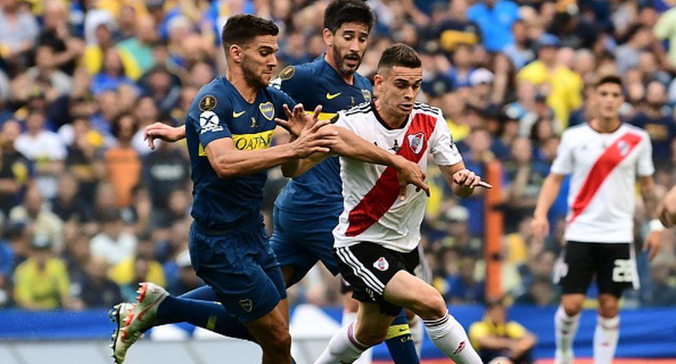 Boca Juniors vs. River Plate en La Bombonera por la Copa Libertadores. (Foto: Getty)