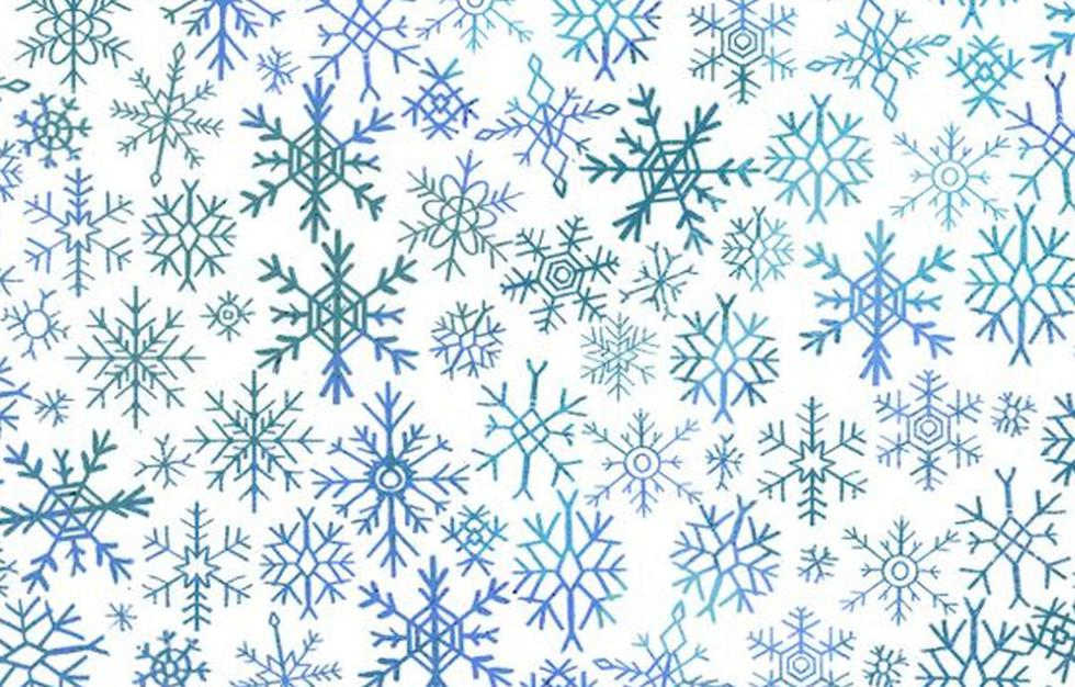 Reto viral del día: halla el diamante escondido entre los copos de nieve en la imagen (Foto: Facebook)