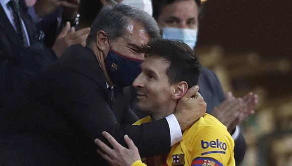 Joan Laporta apuesta por la continuidad de Lionel Messi en Barcelona. (Foto: AP)