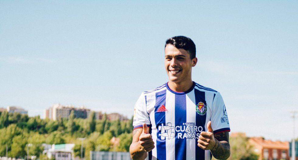 Pedro Porro llegó al Real Valladolid cedido por el Manchester City. (Twitter)