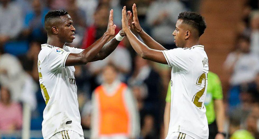Rodrygo Goes llegó procedente el Santos y Vinicius del Flamengo. (Getty)