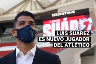 Luis Suárez fue presentado como nuevo jugador del Atlético de Madrid