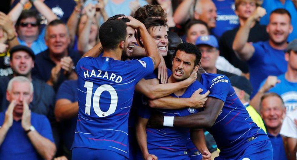 Chelsea se mantiene en la cima de la Premier League luego de ganarle al Bournemouth com local. (Fotos: Agencias)