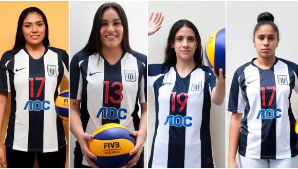 De izquierda a derecha, Diana de la Peña, Shanaiya Ayme, Mariale Ceccarelli y Yuhjamy Mosquera. (Fotos: Alianza Lima)