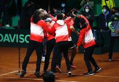 ¡Un solo corazón! El festejo de la selección peruana tras vencer a Bosnia y Herzegovina por la Copa Davis 2021 [FOTOS]