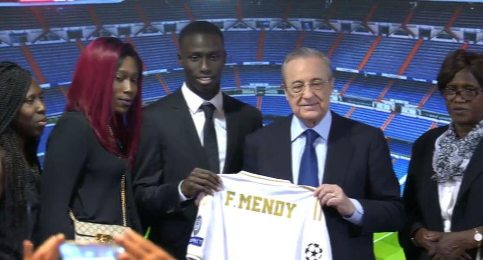 Ferland Mendy llega al Real Madrid por 50 millones de euros. (Real Madrid TV)