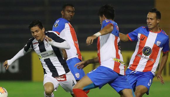 Alianza Lima igualó ante Estudiantes de Mérida por la Copa Libertadores. (Foto: Conmebol)