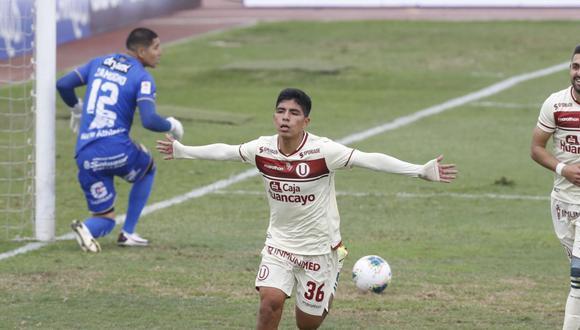 Piero Quispe marcó en el triunfo sobre Sport Huancayo (Foto: GEC)