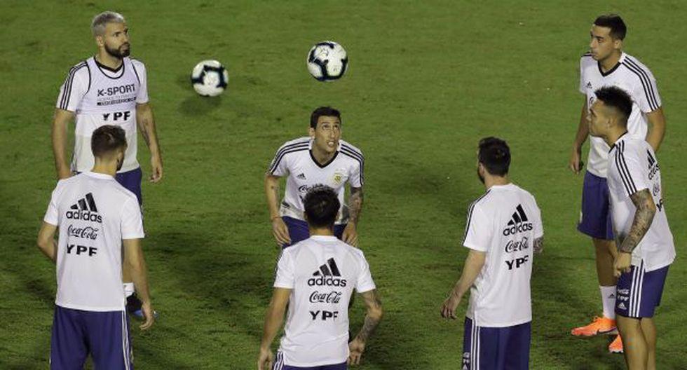 Di María entrena con Argentina de cara a la Copa América. (Foto: AP)
