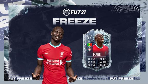 FIFA 21: Sadio Mané es el mejor de las cartas 'Freeze' de FUT. (Foto: EA Sports)