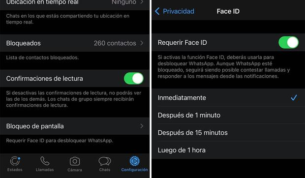 De esta forma podrás desbloquear WhatsApp con tu rostro. (Foto: MAG)