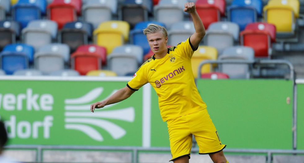 Erling Haaland anotó el gol del triunfo del Borussia Dortmund en su visita a Fortuna Dusseldorf. (Foto: Reuters)