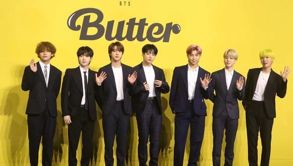 Los integrantes de la agrupación BTS durante uno de sus más recientes lanzamientos. Foto: Dong-A Ilbo para AFP.