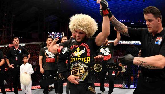 Khabib Nurmagomedov se retiró oficialmente, anunció el presidente de UFC Dana White. (Foto: Getty Images)