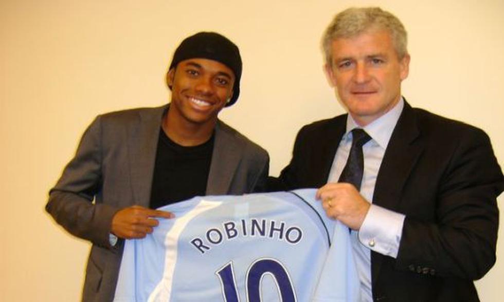 7. Robinho to Manchester City (2007/2008) for 43 million euros.  (Photo: Twitter)