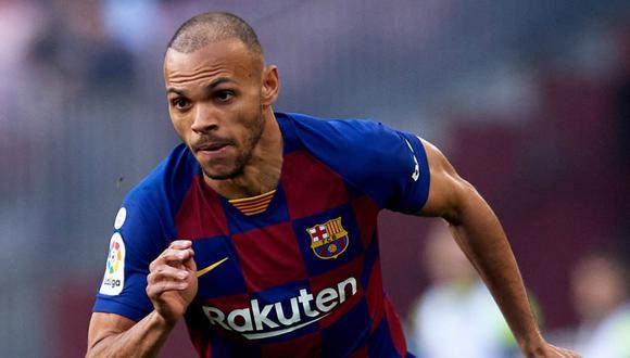 Martin Braithwaite llegó al FC Barcelona en febrero de 2020. (Foto: EFE)