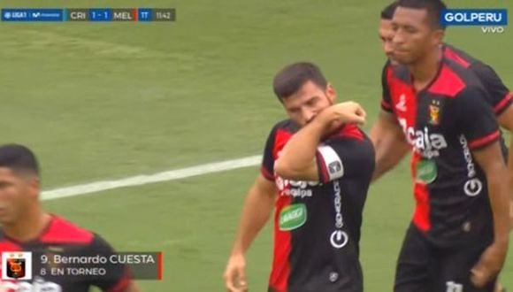 Bernardo Cuesta marcó gol de cabeza y Binacional celebra. (Captura: Golperu)