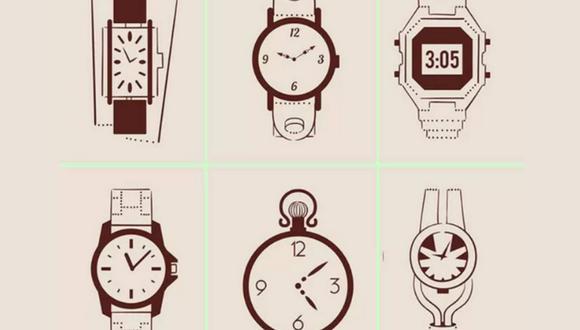 Observa la imagen y escoge un reloj. El que elijas te indicará si sufres de estrés o no. (Foto: iProfesional)