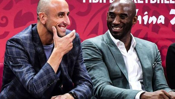 Manuel Ginóbili y Kobe Bryant fueron rivales en la NBA y después se volvieron amigos. (Foto: Twitter)