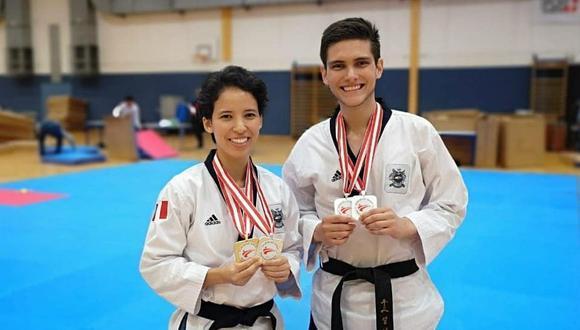 Marcela Castillo y Hugo del Castillo mostrando sus medallas del torneo de Viena. (Foto: Instagram)