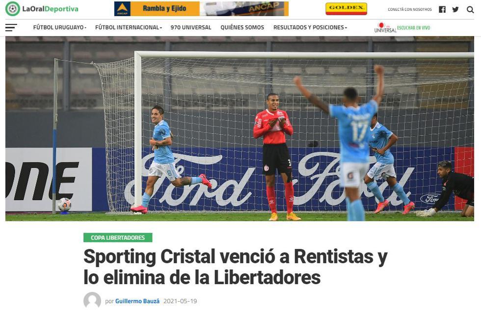 Así reaccionó la prensa uruguaya tras el triunfo de Sporting Cristal. (Captura)