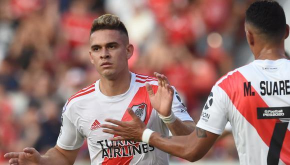 Rafael Santos Borré llegó  River a mediados de 2017. (Foto: River Plate)