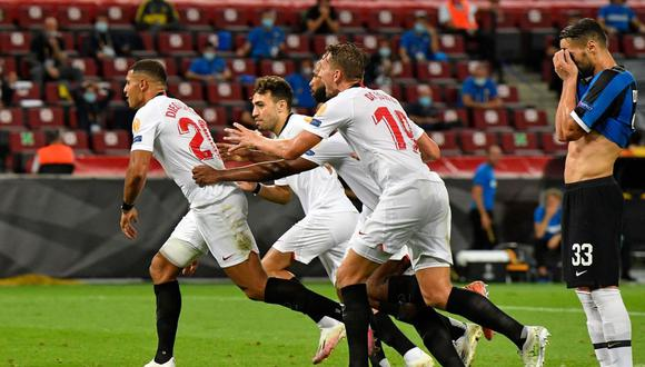 Sevilla vs. Inter de Milán se enfrentaron en la final de la Europa League. (Foto: AFP)
