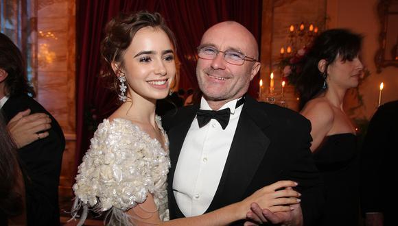 La extraña relación de Lily Collins y su padre Phil Collins (Foto: Vanity)