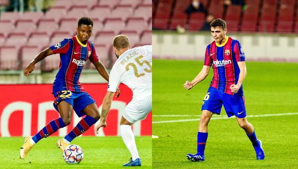 Ansu Fati y Pedri Gonzáles anotaron en el triunfo del Barcelona por Champions League. (Foto: Barcelona).