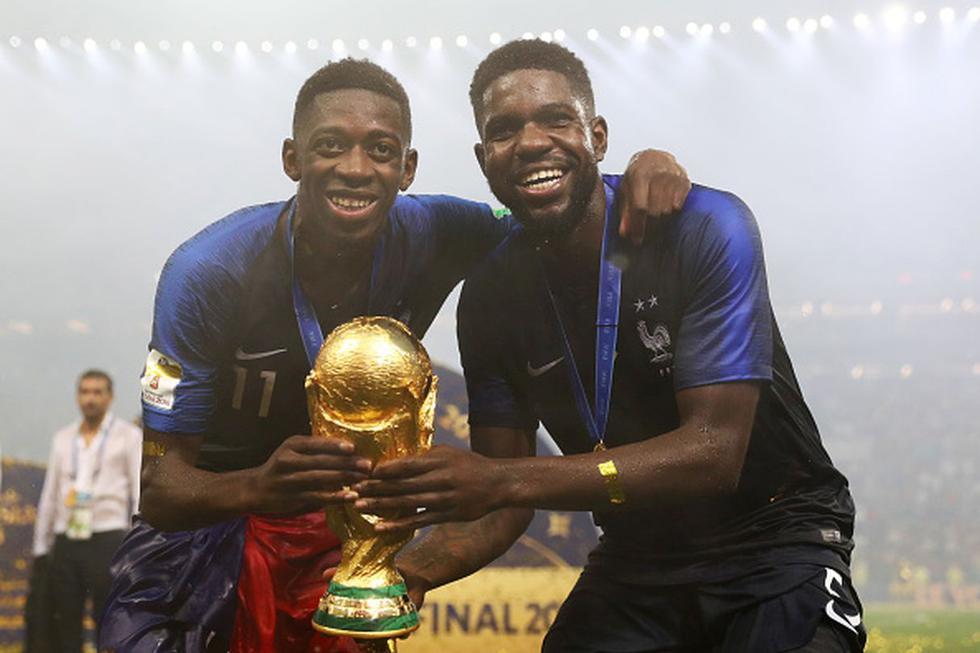 Samuel Umtiti y Dembéle ganaron el Mundial Rusia 2018.