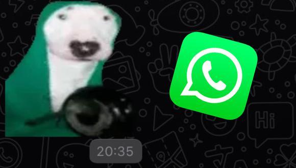 ¡Ya puedes tener el perrito tocando la sartén: el sticker con sonido más viral en WhatsApp! (Foto: Depor)