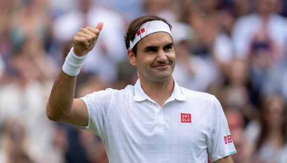 Roger Federer venció a Lorenzo Sonego y avanzó a cuartos de final de Wimbledon 2021 (Twitter)