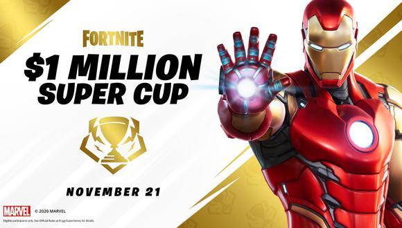 Fortnite anuncia la Super Copa Marvel con 1 millón de dólares en premios. (Fortnite)