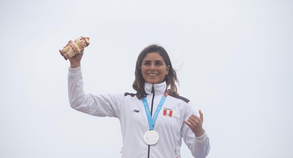 Vania Torres: Medalla de plata en Surf SUP femenino. (Foto: Jesus Saucedo / GEC)