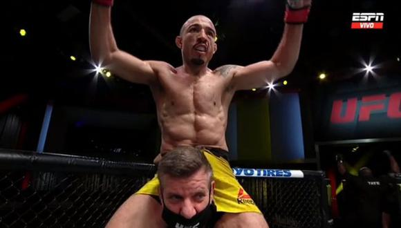 José Aldo venció al ecuatoriano 'Chito' Vera por decisión unánime en el UFC de Las Vegas.(UFC)