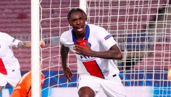 Moise Kean anotó en el 4-1 del PSG ante Barcelona por la Champions League. (Foto: EFE)