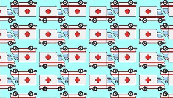 Reto viral nivel difícil: tu tarea de hoy es ubicar las ambulancias diferentes al resto en la imagen. (Foto: Noticieros Televisa)
