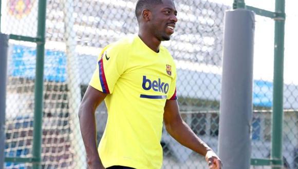 Dembélé cayó lesionado a principios de febrero. (Foto: FC Barcelona)