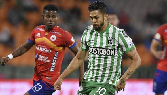 Atlético Nacional y Pasto empataron 1-1 en el estadio Atanasio Girardot por la Liga BetPlay. (Foto: Dimayor)