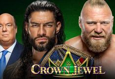 Se paraliza Arabia Saudita: Roman Reigns enfrentará a Brock Lesnar en Crown Jewel 2021
