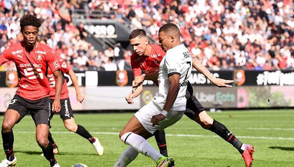PSG perdió el invicto en la temporada tras caer de visita con el Rennes. (Getty)