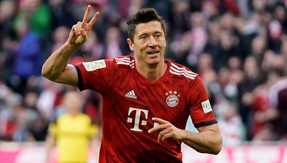 Lewandoski fue elegido como el mejor de la Bundesliga. (Foto: EFE)