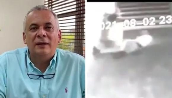 José Manuel Ríos, alcalde de Armenia, está completamente seguro de que el vigilante fue atacado por un fantasma. (Foto: Alcaldía de Armenia   Facebook)