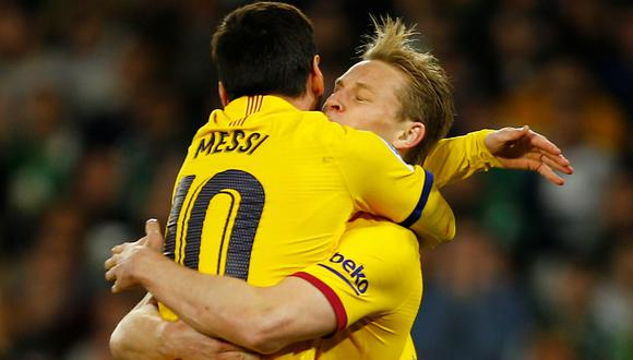 Frenkie de Jong dice que Lionel Messi es el mejor del mundo . (Foto: REUTERS)