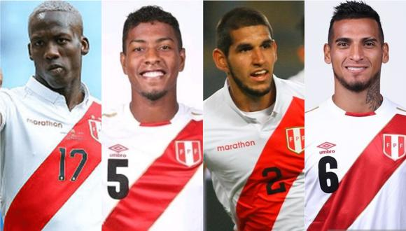 Advíncula, Araujo, Abram, Trauco conformarían la defensa de la selección peruana para los duelos ante Bolivia y Venezuela. (Foto: GEC)