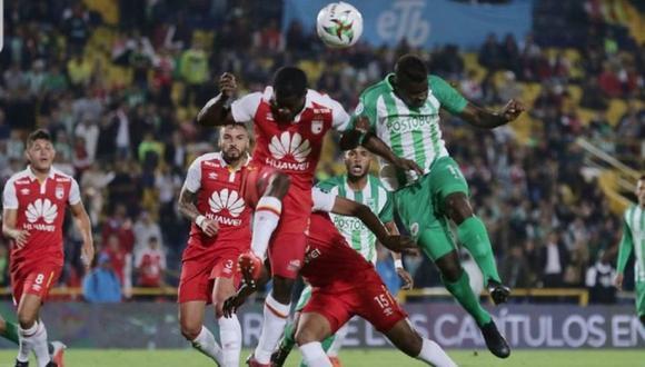 Atlético Nacional perdió 2-1 ante Santa Fe por cuadrangular amistoso. (Twitter)