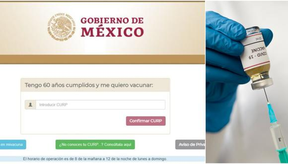 Vacuna COVID-19 en México: regístrate en mivacuna.salud.gob.mx y accede a las dosis si eres adulto mayor. (Foto: mivacuna.mx)